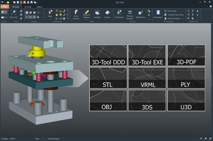 The 3D tool CAD Viewer facilitates collaboration and coordination within the company