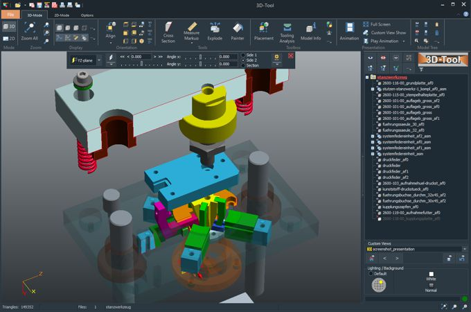 Presentation of 3D CAD models with the 3D-Tool CAD Viewer