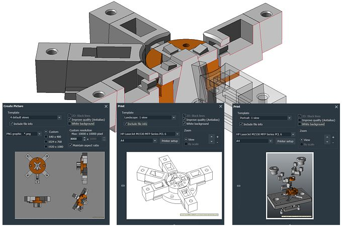 Presentation and documentation of 3D CAD models